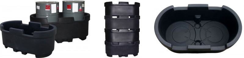 DEN HARTOG DUAL 55 GALLON DRUM CONTAINMENT TANK